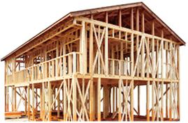 木の強さと快適さを生かした「木造軸組工法」イメージ